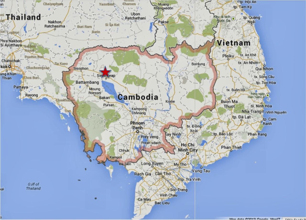 Kambodscha Karte.Siem Reap Kambodscha Karte Karte Von Siem Reap