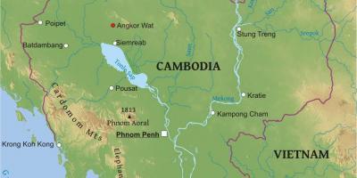 Angkor Wat Karte.Kambodscha Kambodscha Map Karten Kambodscha Kambodscha Süd